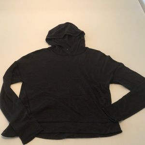 Lululemon hooded run hoodie with back pocket sz 8